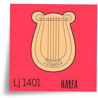 ilustracije modle za kolace harfa