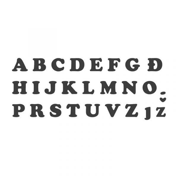 sekaci za fondan slova abeceda