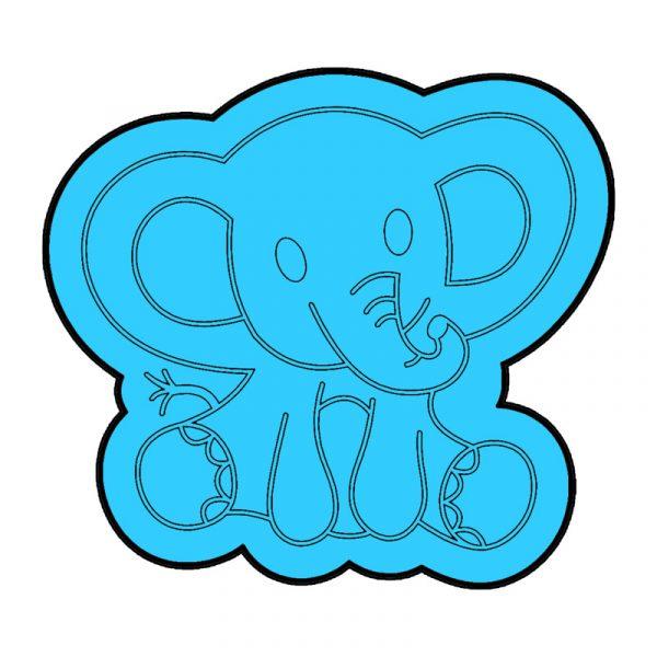 modla za medenjake slon