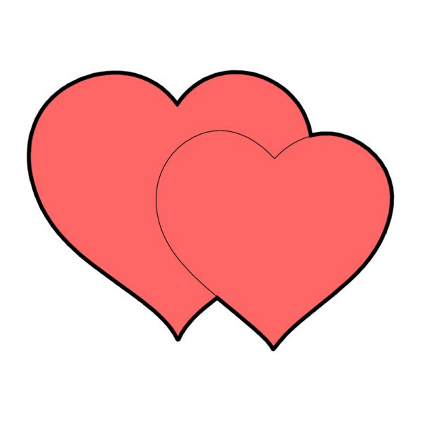 modla za keks dva srca