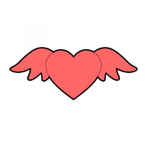 modla za keks srce sa krilima