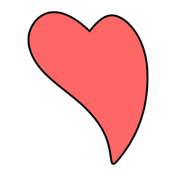modla za keks srce